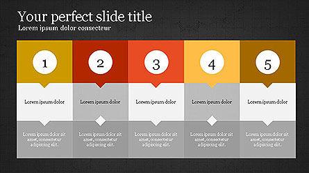 Creative Process Presentation Template, Slide 16, 04160, Stage Diagrams — PoweredTemplate.com