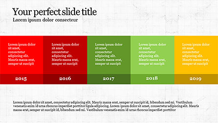 Timeline Report Concept, Slide 2, 04165, Timelines & Calendars — PoweredTemplate.com