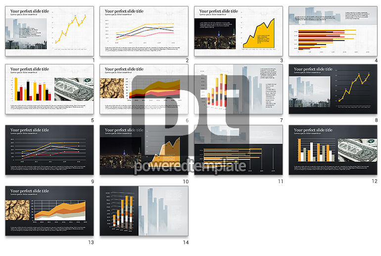 Financial Report Presentation Template