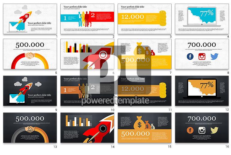 Modèle de présentation infographique de démarrage