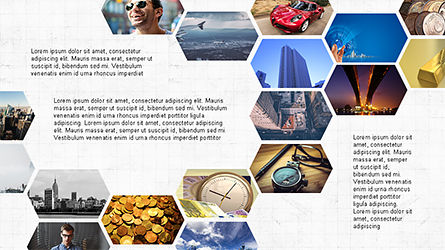 Hexagonal Presentation Template, Slide 2, 04170, Business Models — PoweredTemplate.com