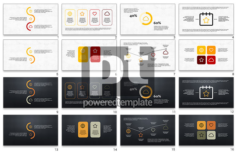Thin Lines Flat Designed Presentation Template