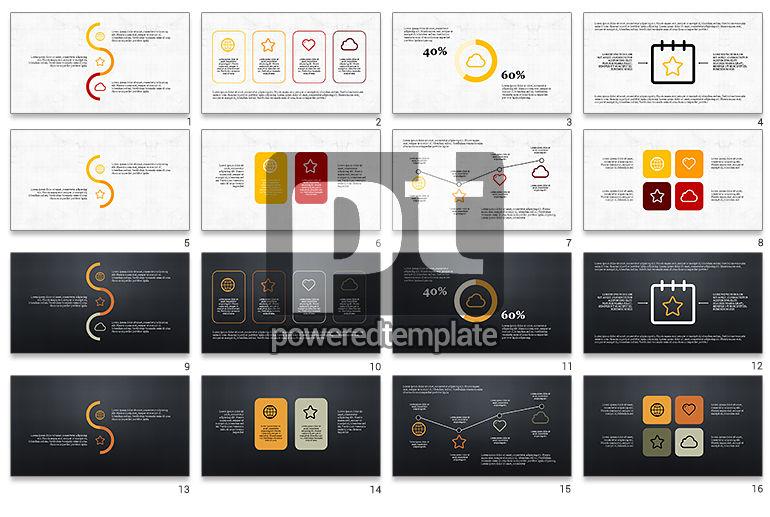 Thin Lines Flat Designed Presentation Template