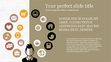 Lifestyle Presentation Infographic, 04175, Shapes — PoweredTemplate.com