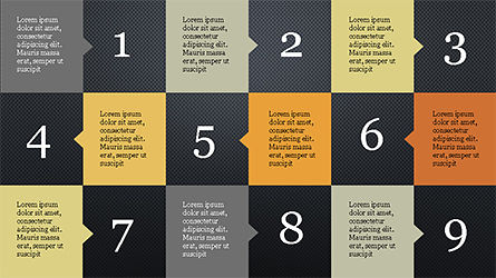 Education Presentation Template in Grid Layout Style Slide 14