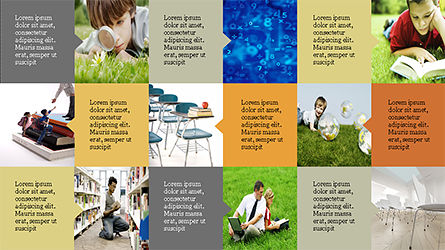 Education Presentation Template in Grid Layout Style Slide 9