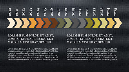 Chevron Timeline Concept, Slide 10, 04186, Timelines & Calendars — PoweredTemplate.com