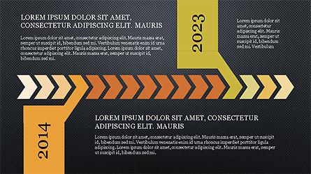 Chevron Timeline Concept, Slide 11, 04186, Timelines & Calendars — PoweredTemplate.com