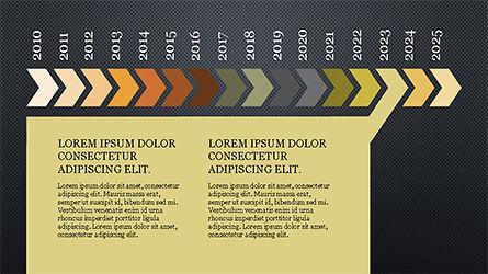 Chevron Timeline Concept, Slide 14, 04186, Timelines & Calendars — PoweredTemplate.com