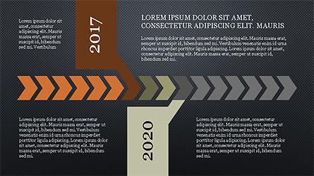 Chevron Timeline Concept, Slide 16, 04186, Timelines & Calendars — PoweredTemplate.com