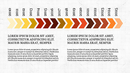 Chevron Timeline Concept, Slide 2, 04186, Timelines & Calendars — PoweredTemplate.com