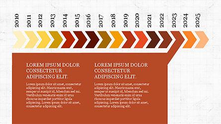 Chevron Timeline Concept, Slide 6, 04186, Timelines & Calendars — PoweredTemplate.com