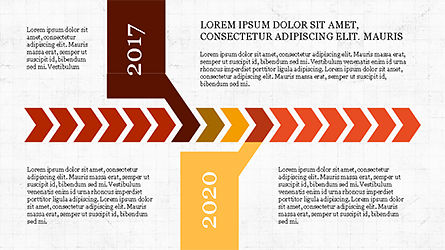Chevron Timeline Concept, Slide 8, 04186, Timelines & Calendars — PoweredTemplate.com
