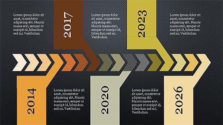Chevron Timeline Concept, Slide 9, 04186, Timelines & Calendars — PoweredTemplate.com