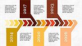 Timelines & Calendars: Concepto de línea de tiempo de Chevron #04186