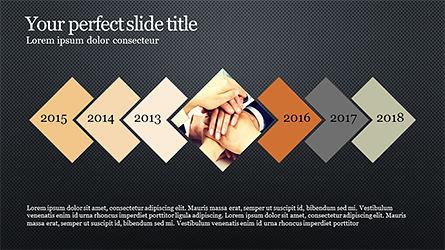 Timeline and Options Diagram, Slide 11, 04192, Timelines & Calendars — PoweredTemplate.com