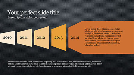 Timeline and Options Diagram, Slide 12, 04192, Timelines & Calendars — PoweredTemplate.com