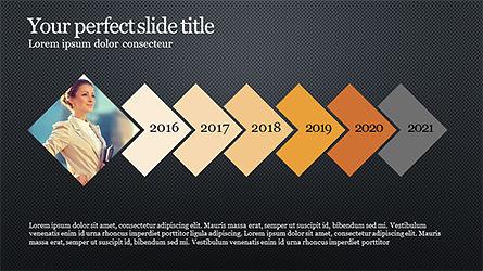 Timeline and Options Diagram, Slide 15, 04192, Timelines & Calendars — PoweredTemplate.com