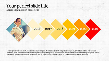 Timeline and Options Diagram, Slide 7, 04192, Timelines & Calendars — PoweredTemplate.com