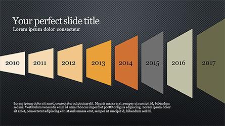 Timeline and Options Diagram, Slide 9, 04192, Timelines & Calendars — PoweredTemplate.com