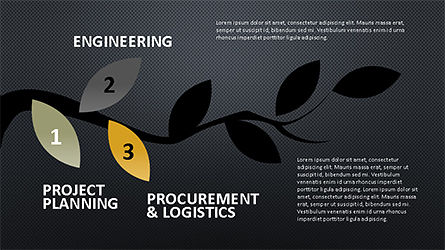Tree Branch Stage Diagram, Slide 10, 04193, Stage Diagrams — PoweredTemplate.com