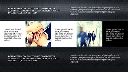 Grid Layout Style Presentation Template Slide 13