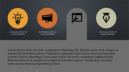 Flat Stages with Icons Diagram, Slide 11, 04202, Icons — PoweredTemplate.com