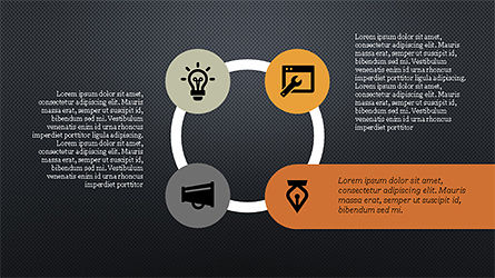 Flat Stages with Icons Diagram, Slide 16, 04202, Icons — PoweredTemplate.com