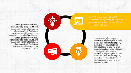 Flat Stages with Icons Diagram, Slide 6, 04202, Icons — PoweredTemplate.com