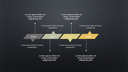 Timeline Report Concept, Slide 11, 04208, Stage Diagrams — PoweredTemplate.com
