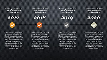Timeline Report Concept, Slide 12, 04208, Stage Diagrams — PoweredTemplate.com