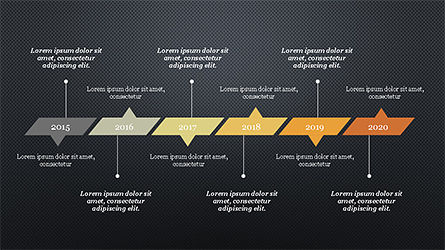 Timeline Report Concept, Slide 9, 04208, Stage Diagrams — PoweredTemplate.com