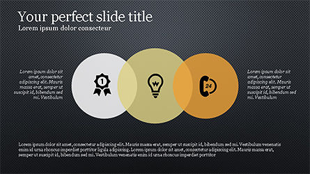 Circles and Icons Slide 12