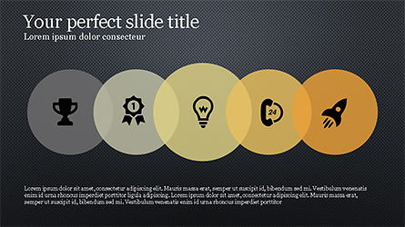Circles and Icons Slide 9