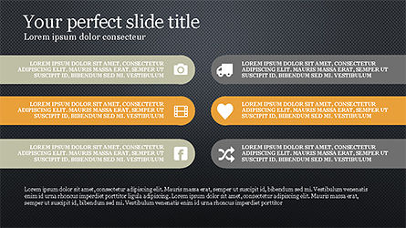 Options and Icons Slide Deck, Slide 15, 04219, Icons — PoweredTemplate.com