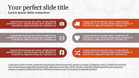 Options and Icons Slide Deck, Slide 7, 04219, Icons — PoweredTemplate.com