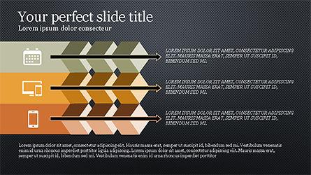 Chevron Style Slide Deck, Slide 12, 04221, Process Diagrams — PoweredTemplate.com