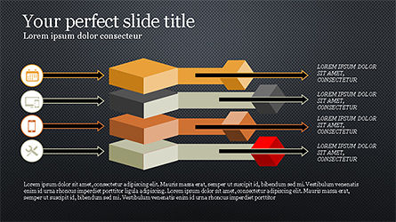Chevron Style Slide Deck, Slide 14, 04221, Process Diagrams — PoweredTemplate.com