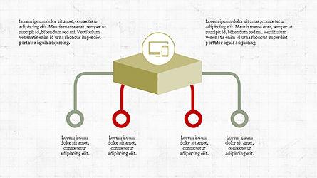 Chevron Style Slide Deck, Slide 3, 04221, Process Diagrams — PoweredTemplate.com