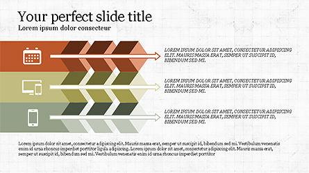 Chevron Style Slide Deck, Slide 4, 04221, Process Diagrams — PoweredTemplate.com