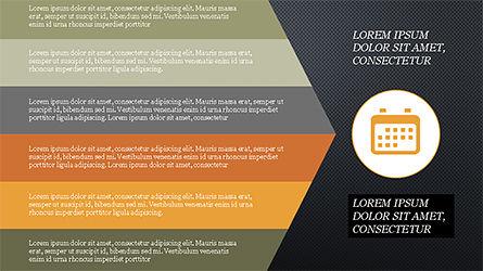 Chevron Style Slide Deck, Slide 9, 04221, Process Diagrams — PoweredTemplate.com