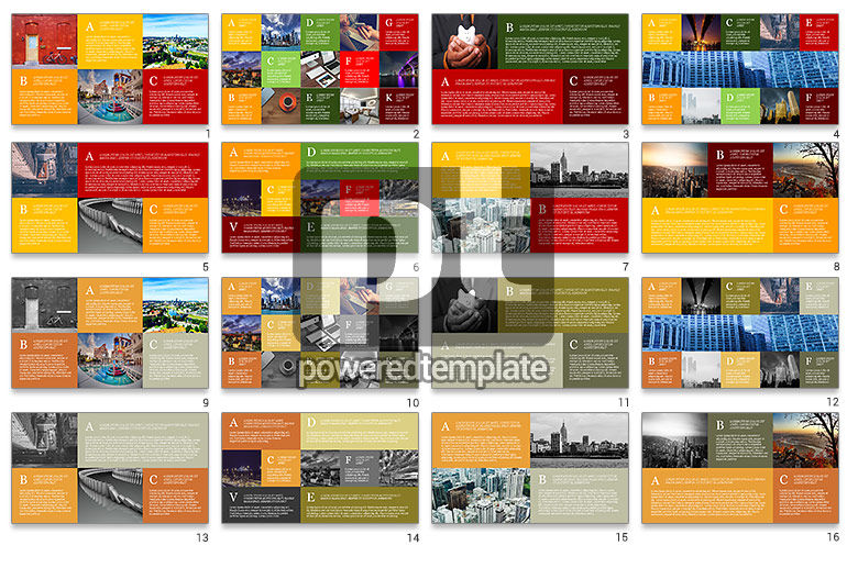 Grid Layout Brochure Presentation Template