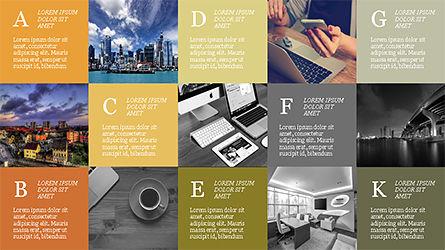 Grid Layout Brochure Presentation Template, Slide 10, 04222, Presentation Templates — PoweredTemplate.com
