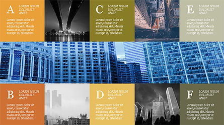 Grid Layout Brochure Presentation Template, Slide 12, 04222, Presentation Templates — PoweredTemplate.com