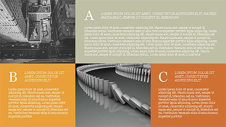 Grid Layout Brochure Presentation Template, Slide 13, 04222, Presentation Templates — PoweredTemplate.com