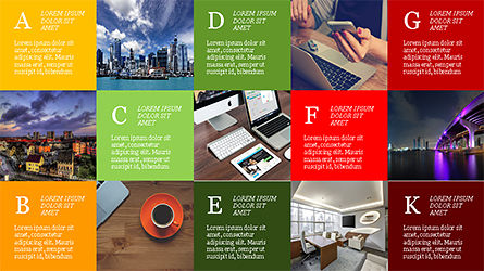 Grid Layout Brochure Presentation Template, Slide 2, 04222, Presentation Templates — PoweredTemplate.com