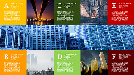 Grid Layout Brochure Presentation Template, Slide 4, 04222, Presentation Templates — PoweredTemplate.com