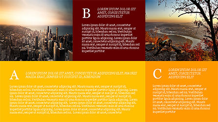 Grid Layout Brochure Presentation Template, Slide 8, 04222, Presentation Templates — PoweredTemplate.com