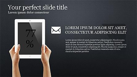 Flat Display Presentation Concept, Slide 12, 04225, Presentation Templates — PoweredTemplate.com