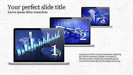Flat Display Presentation Concept, Slide 8, 04225, Presentation Templates — PoweredTemplate.com